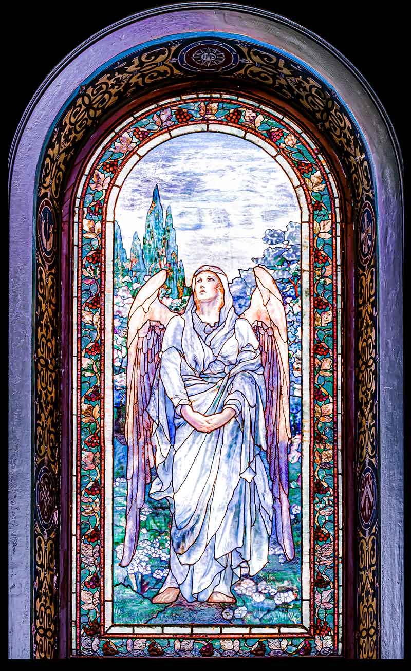 Tiffany, Silver-Lavender Angel of Faith