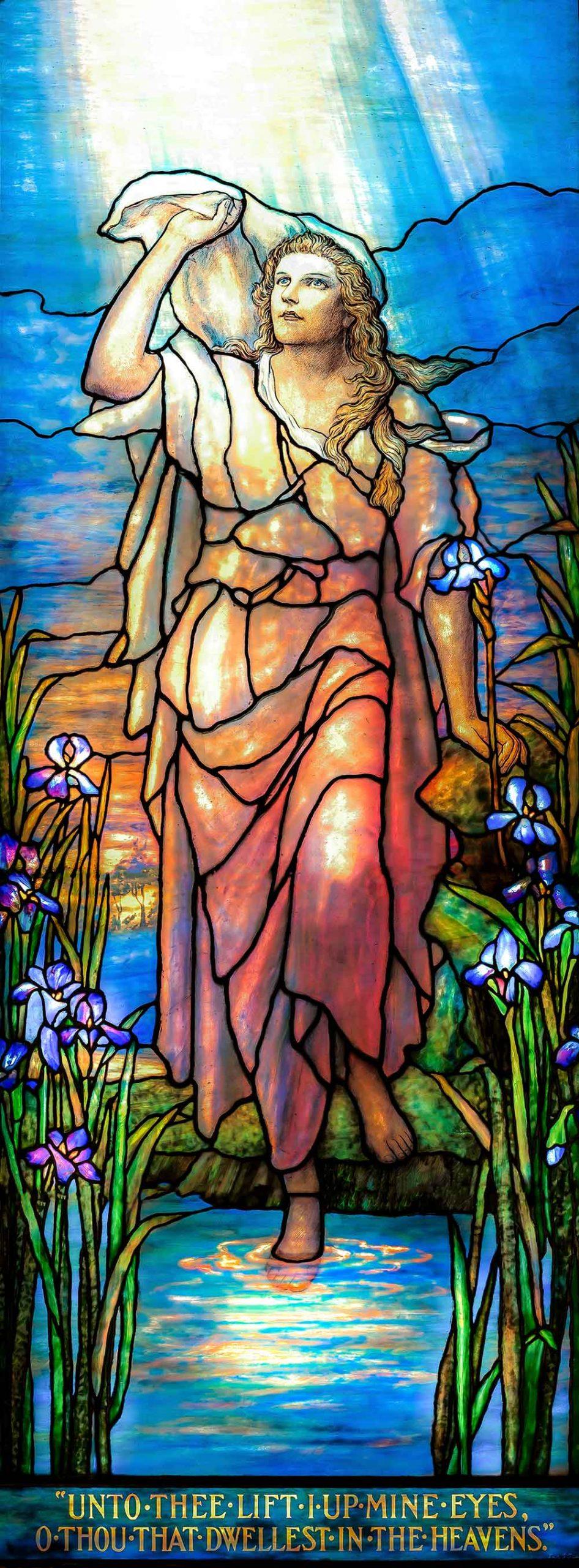 Tiffany-Woman-at-Pond-Lift-up-mine-Eyes